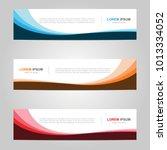 modern banner template design ... | Shutterstock .eps vector #1013334052