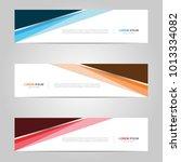 modern banner template design ...   Shutterstock .eps vector #1013334082