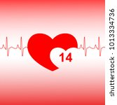 valentines day celebration card.... | Shutterstock . vector #1013334736