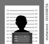 prisoner silhouette front with... | Shutterstock .eps vector #1013338726