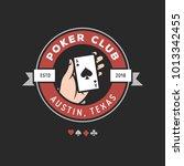 poker club emblem label badge...   Shutterstock .eps vector #1013342455