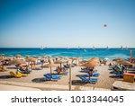 rhodes  greece   august 26 ... | Shutterstock . vector #1013344045