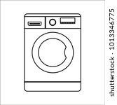 washing machine icon | Shutterstock .eps vector #1013346775