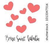 bonne saint valentin happy... | Shutterstock .eps vector #1013347516