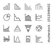 set of 16 diagram thin line...   Shutterstock .eps vector #1013348602