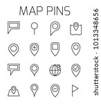 map pins related vector icon... | Shutterstock .eps vector #1013348656