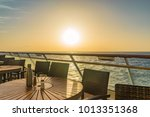 beautiful sunset with view from ... | Shutterstock . vector #1013351368