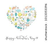cute fall in love heart... | Shutterstock .eps vector #1013353396