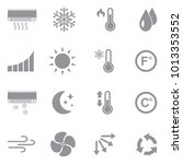 air conditioning icons. gray... | Shutterstock .eps vector #1013353552