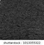 black brick wall texture... | Shutterstock . vector #1013355322