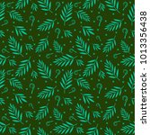 tropical leaf seamless pattern | Shutterstock .eps vector #1013356438
