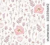 seamless rustic pattern of... | Shutterstock .eps vector #1013356642