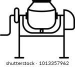 concrete mixer  concrete mixer... | Shutterstock .eps vector #1013357962