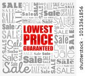 lowest price guaranteed words...   Shutterstock .eps vector #1013361856