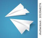 paper planes vector designed in ... | Shutterstock .eps vector #1013368276