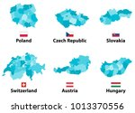 vector maps and flags of europe ... | Shutterstock .eps vector #1013370556