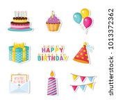 birthday vector set | Shutterstock .eps vector #1013372362