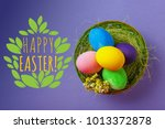 happy easter background  | Shutterstock . vector #1013372878