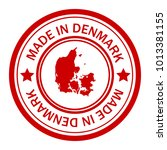 red stamp made in with map of... | Shutterstock .eps vector #1013381155