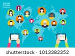 social media background  ... | Shutterstock .eps vector #1013382352