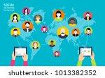social media background  ... | Shutterstock .eps vector #1013382352