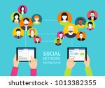 social media background  ... | Shutterstock .eps vector #1013382355