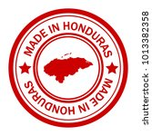 red stamp made in with map of... | Shutterstock .eps vector #1013382358
