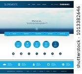 website design template for... | Shutterstock .eps vector #1013382646