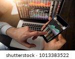 businessman using smartphone | Shutterstock . vector #1013383522