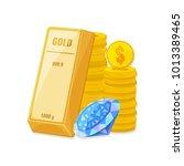 gold bullion  coins  and... | Shutterstock .eps vector #1013389465