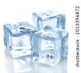 ice cubes on white background | Shutterstock . vector #1013396872