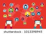 social media background  ... | Shutterstock .eps vector #1013398945