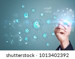 smart industry and automation... | Shutterstock . vector #1013402392