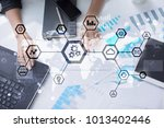 iot  automation  industry 4.0.... | Shutterstock . vector #1013402446