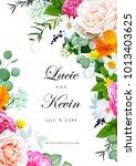 spring wedding invitation   Shutterstock .eps vector #1013403625