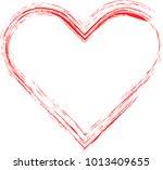 grunge heart. valentine day....   Shutterstock .eps vector #1013409655
