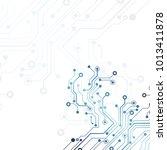 circuit board  technology... | Shutterstock .eps vector #1013411878