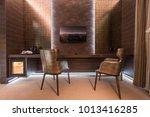 cozy armchairs in luxury home... | Shutterstock . vector #1013416285