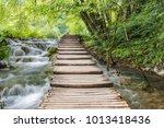 plitvice lakes national park ... | Shutterstock . vector #1013418436