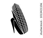 fresh corn isolated | Shutterstock .eps vector #1013421106