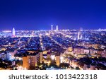 barcelona skyline  spain | Shutterstock . vector #1013422318