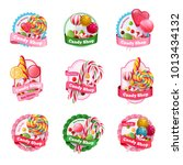 candy shop set of emblems with... | Shutterstock .eps vector #1013434132