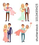 married couples collection  man ...   Shutterstock .eps vector #1013435425