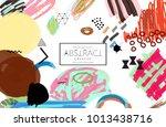 abstract universal art web... | Shutterstock .eps vector #1013438716