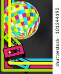 80's retro party background  ... | Shutterstock .eps vector #101344192