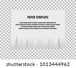tear off stripes of paper sheet.... | Shutterstock .eps vector #1013444962