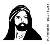silhouette of imam ali  the... | Shutterstock .eps vector #1013451355