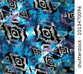 seamless pattern tribal design. ... | Shutterstock . vector #1013470096