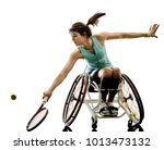 one caucasian young handicapped ...   Shutterstock . vector #1013473132
