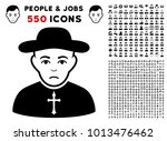 priest pictograph with 550... | Shutterstock .eps vector #1013476462